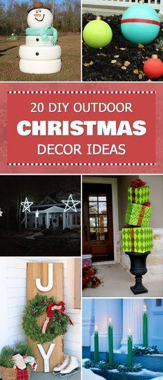 20 DIY Outdoor Christmas Decor Ideas Outdoor christmas, Christmas