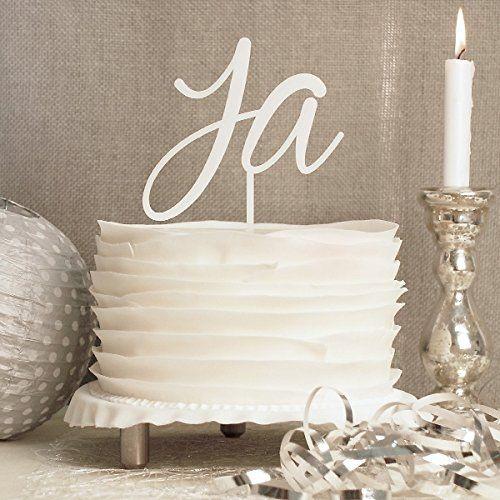 cake topper hochzeit ja wei moderne tortendeko f r ihre hochzeitstorte aus acrylglas. Black Bedroom Furniture Sets. Home Design Ideas