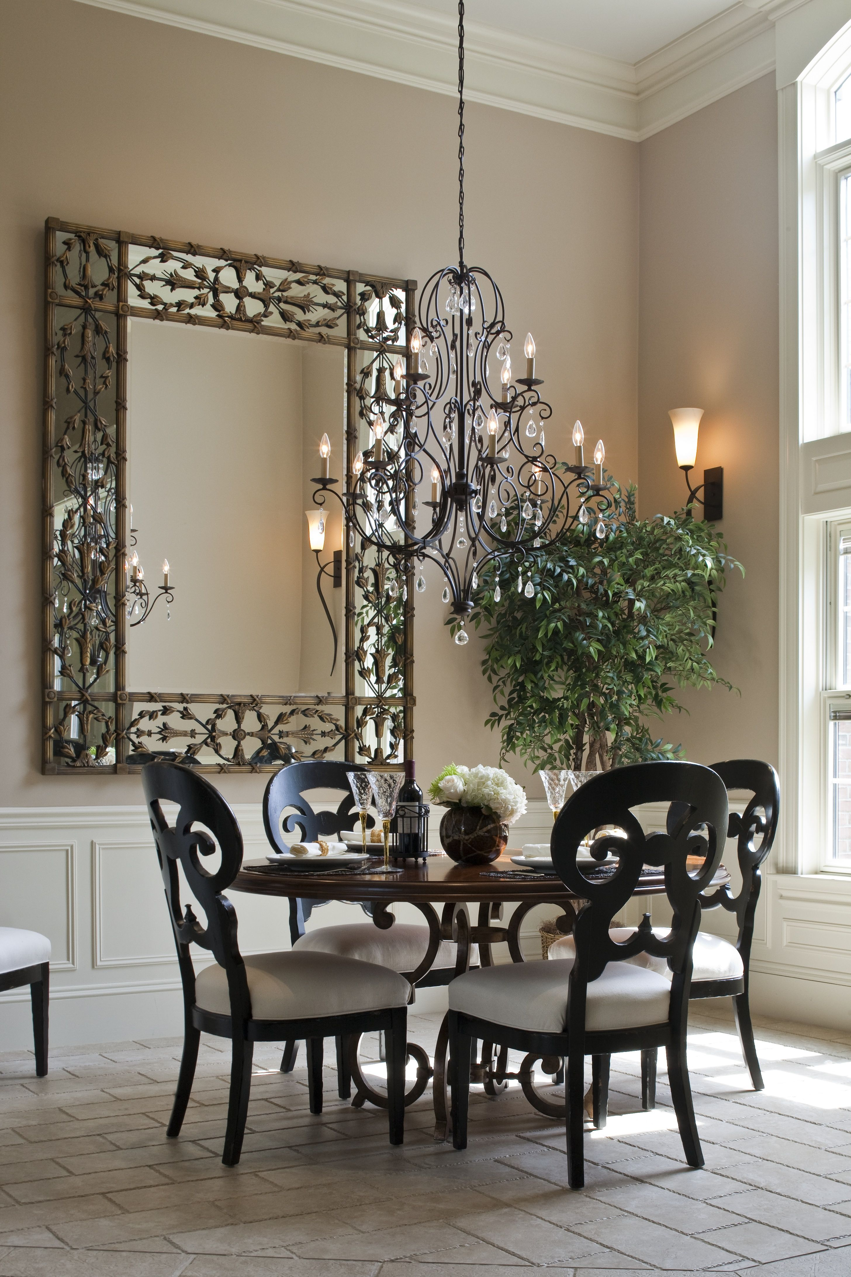 mdk design associates dining small dining room with round