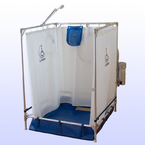 Temporary Shower Units : Portable wheelchair shower stall made in the usa year