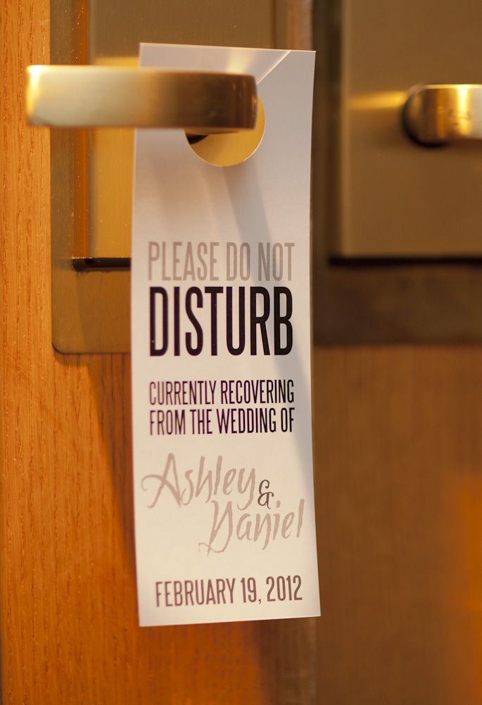do not disturb sign for hotel gift bags perfect if you have lots
