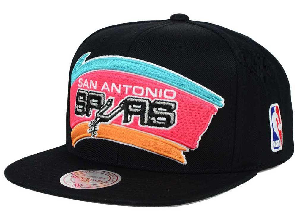 San Antonio Spurs Mitchell   Ness NBA XL Logo Snapback Cap  65569f158b9