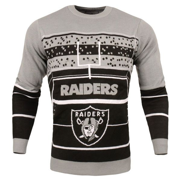 Oakland Raiders Stadium Light Up Sweater Nfl Teams Ugly Christmas