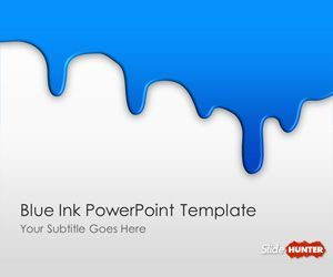 free blue ink powerpoint template is another blue background for