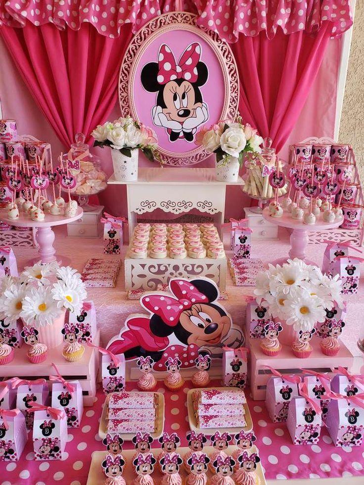 Pink Minnie Mouse Birthday Party Catchmyparty Com Birthday Catchmyparty Minnie Mouse Pa Geburtstagsfeier Ideen Geburtstagsdekorationen Geburtstagsfeier