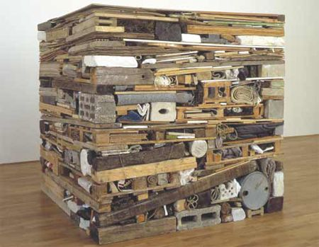 Stack ( 1975 ) by Tony Cragg: a selection of 'found' objects bound together to create a man-made one