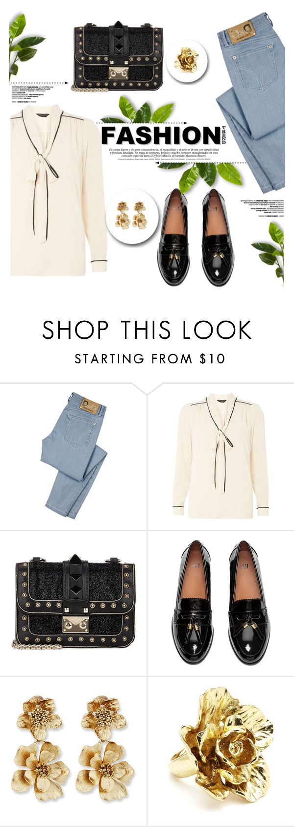 """Fashion"" by yurisnazalieth ❤ liked on Polyvore featuring D&G, Dorothy Perkins, H&M and Oscar de la Renta"