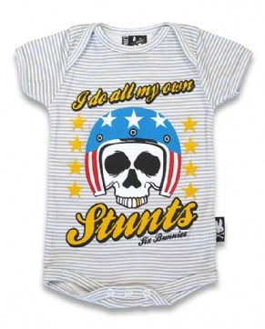 Stunts Six Bunnies Baby Romper At Switchblade Clothing Baby