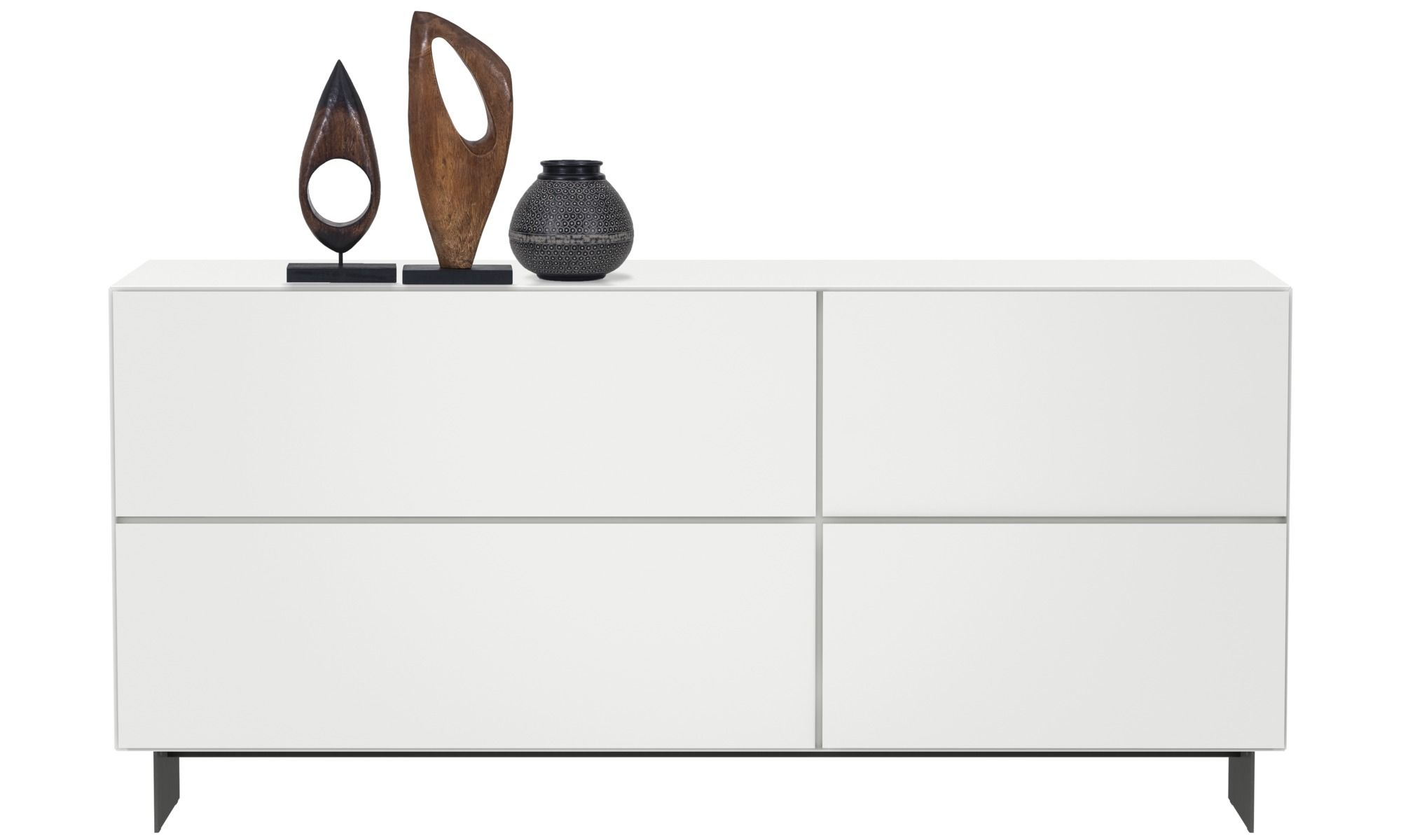 Sideboards Lugano Sideboard White Lacquered Modern