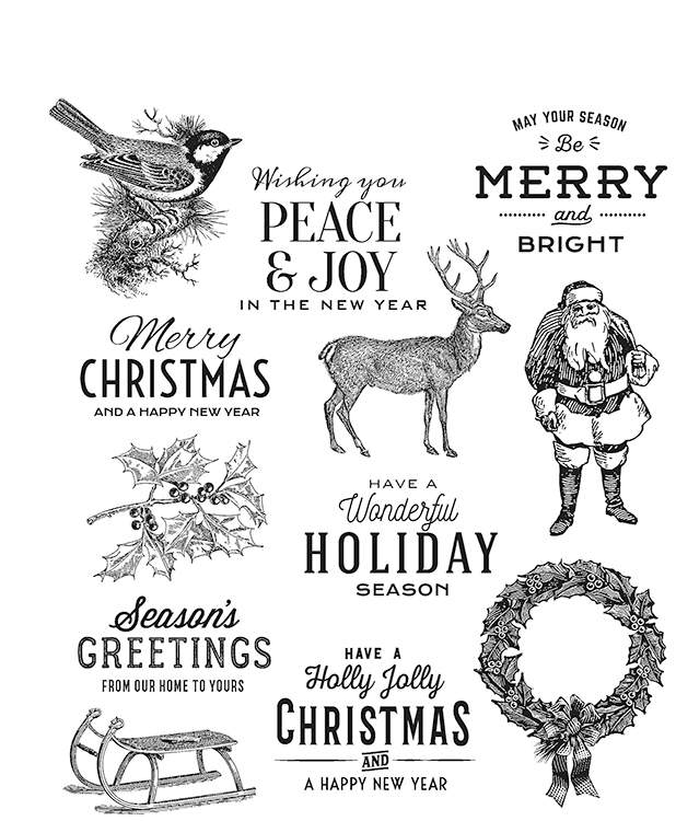 Stampers Anonymous Tim Holtz Festive Overlay Stamp Set