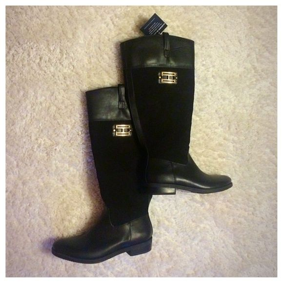 Tommy Hilfiger Valour Boots NWT Valour riding boots in black Tommy Hilfiger Shoes
