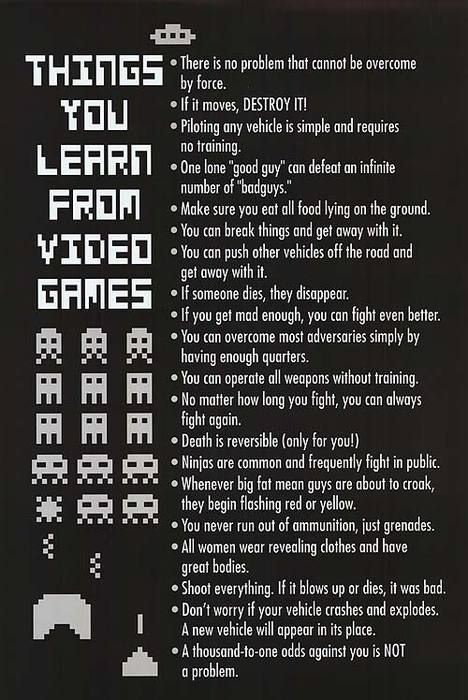 Valuable Life Lessons Video Games Funny Video Game Quotes Funny Games