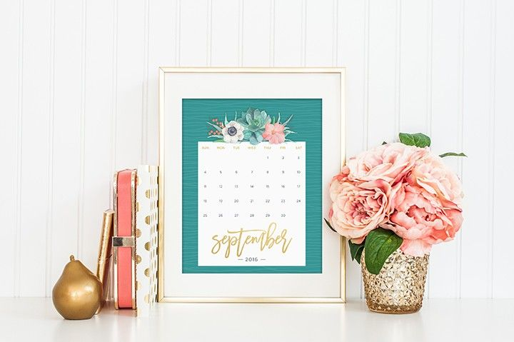 Printable Calendars for a More Floral 2018 Printable calendars - printable calendars