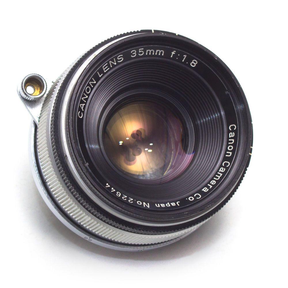 Canon 35mm F1 8 Wide Angle Prime Lens Leica Ltm M39 Screw Fit Rangefinder Japan Vintage Lenses Cameras For Sale Leica