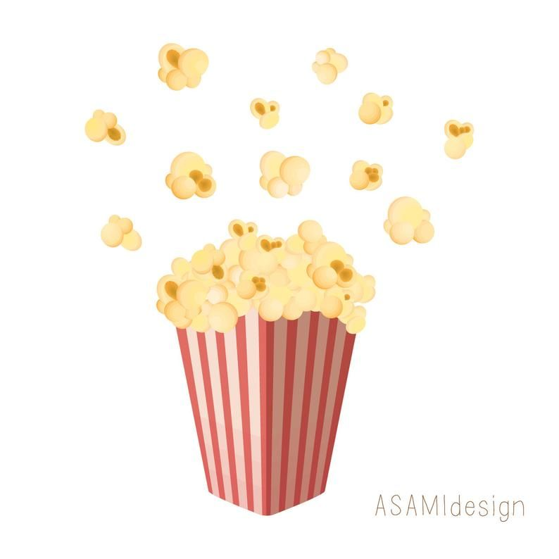 Popcorn Clipart Popping Popcorn Clip Art Png Etsy Clip Art Blog Banner Digital Collage Sheets