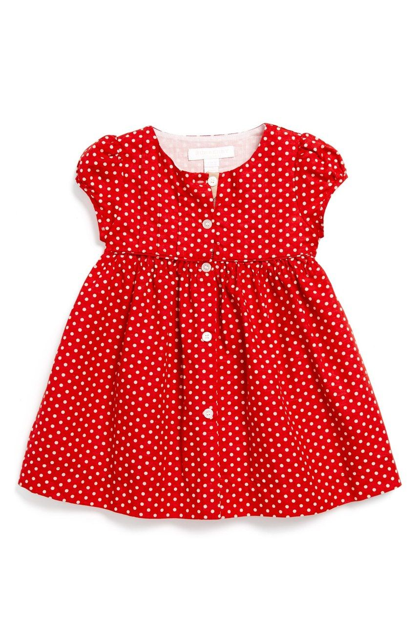 087b48acd Free shipping and returns on Burberry Polka Dot Dress (Baby Girls ...
