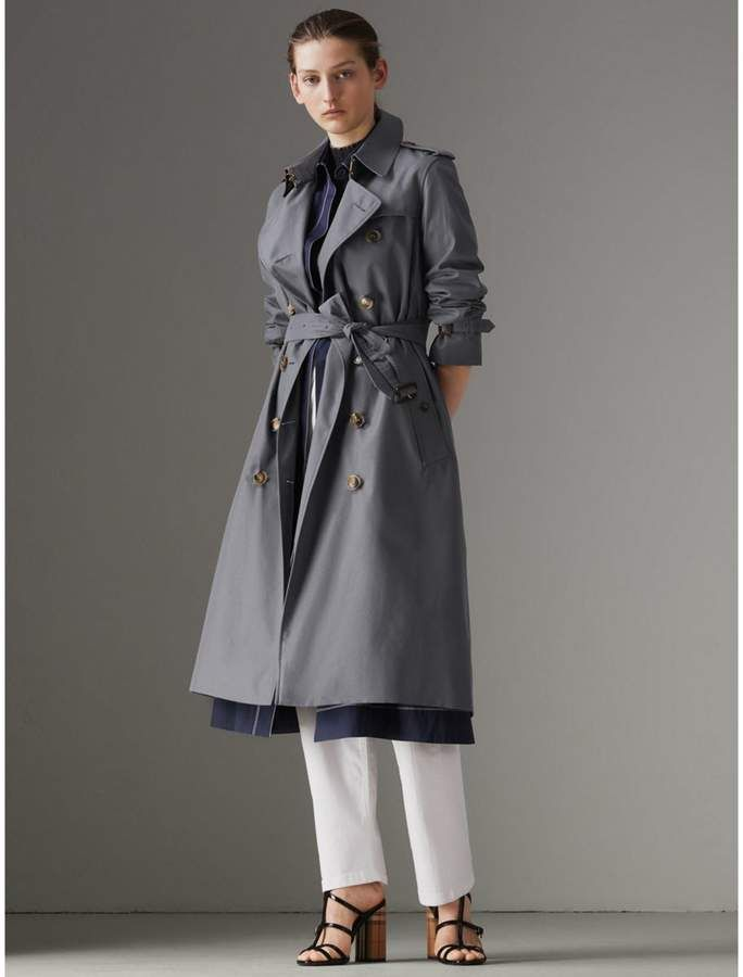 d1dbd1ab9328 The Long Kensington Heritage Trench Coat in Mid Grey - Women ...