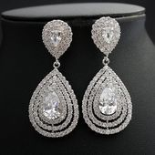 Photo of Items similar to bridal earrings, earrings …