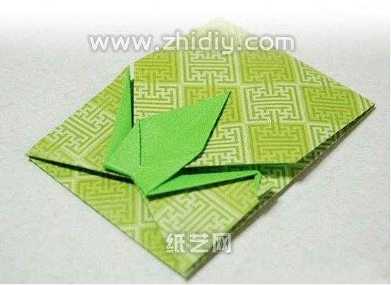 Felt Baby Card with Origami Crane Envelope | 2KidslandKrafts | 403x553