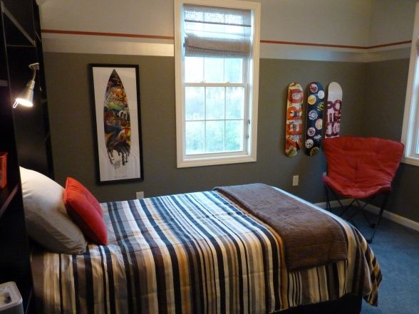 Another view martha stewart metalic paint for border on - Boys room paint ideas ...
