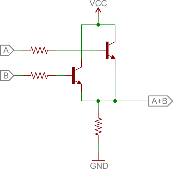 Bjt Or Circuit Electronics Pinterest Electronics Projects
