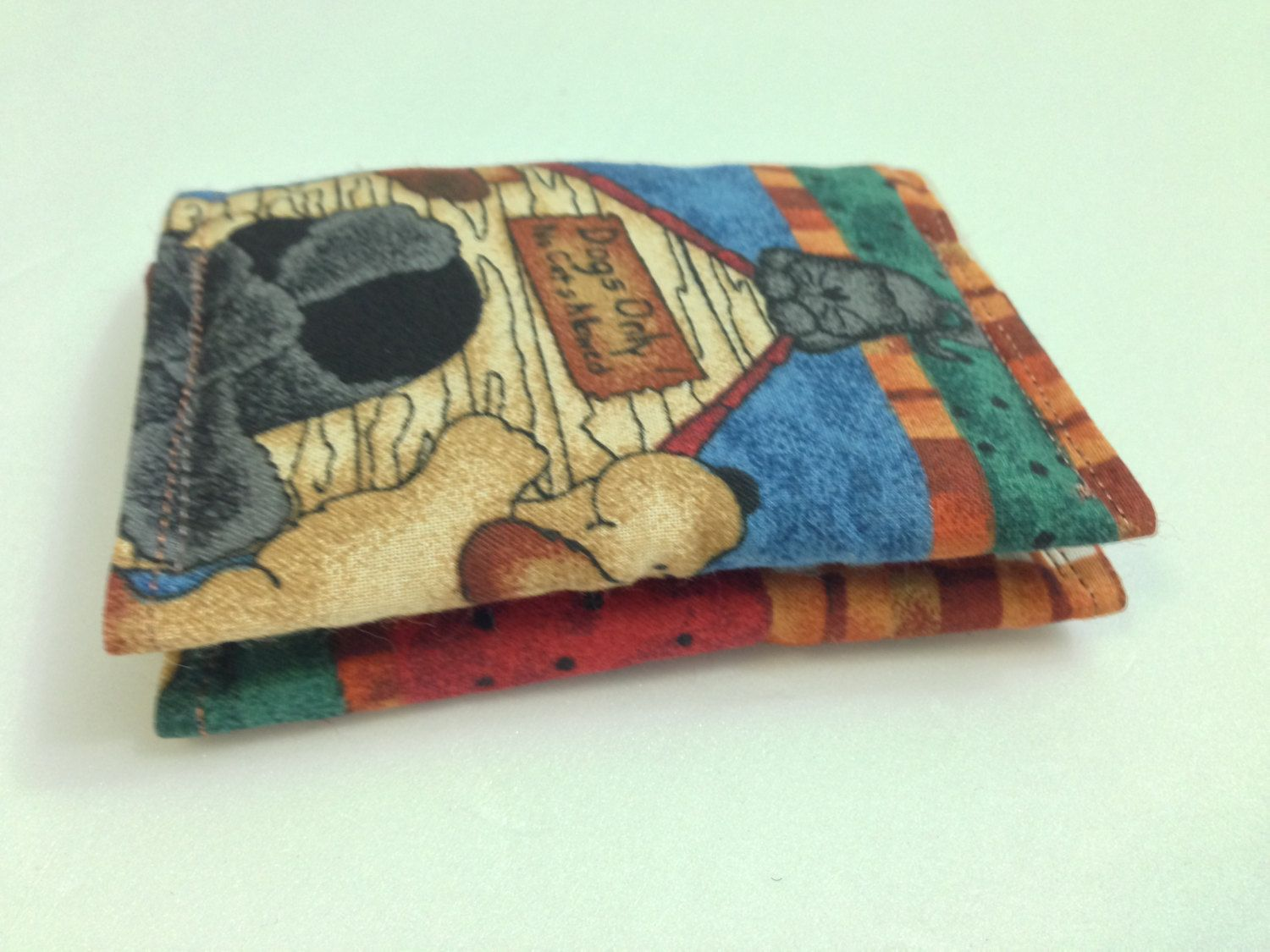 dog gift card holder//dog credit card holder/fabric business card ...