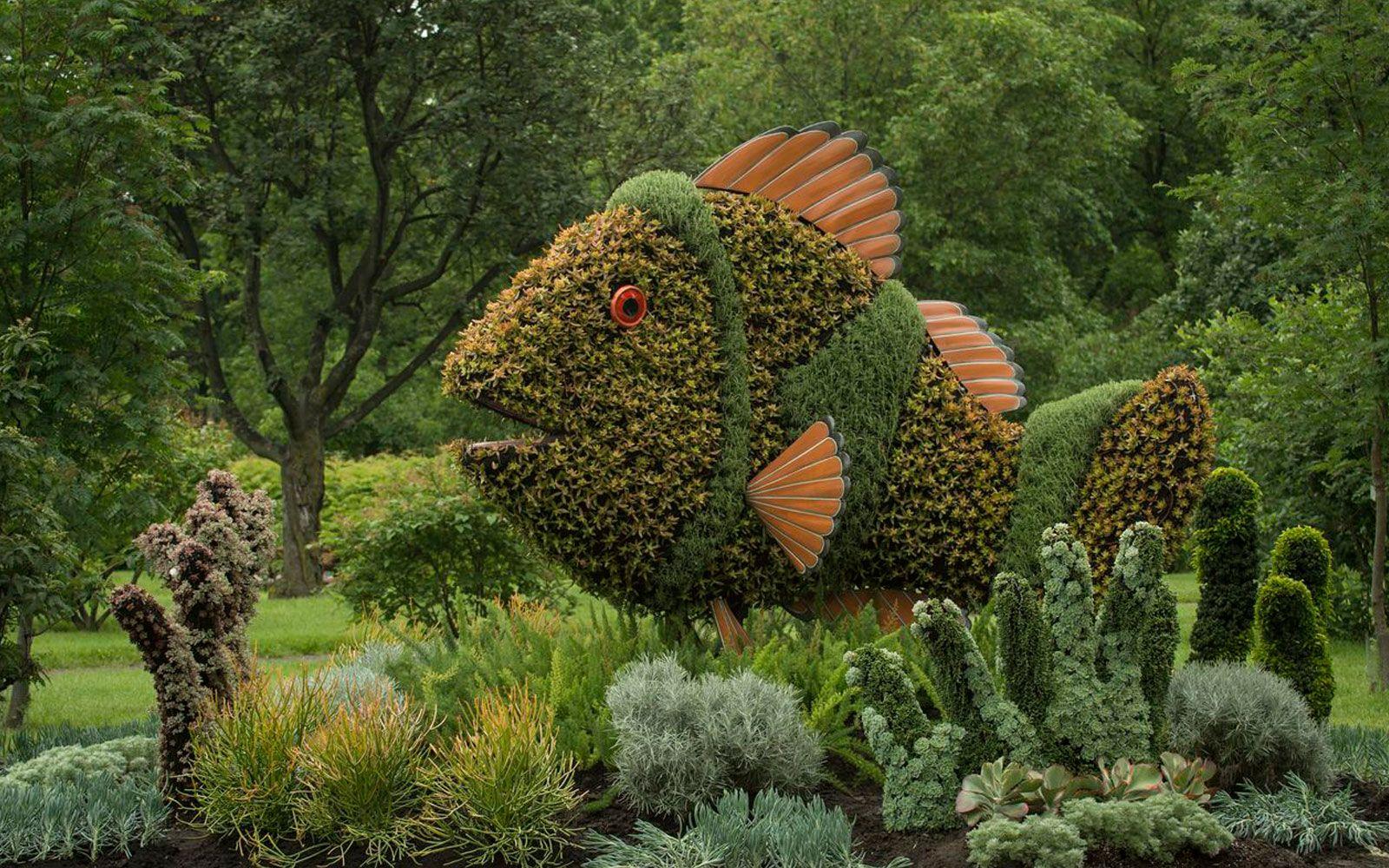 Montreal Botanical Garden Plant Sculpture