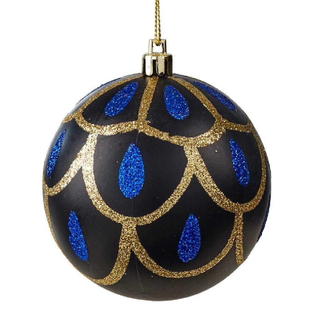Boule De Noel Motif Paon A Suspendre Deco Noel Sapin Decoration Noel Et Noel D Argent