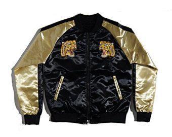 tiger bomber jacket – Etsy FR | Japan Sukajan ! | Pinterest