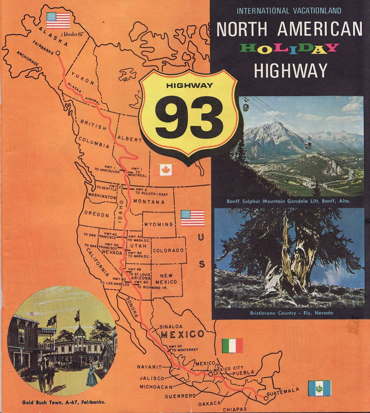 el rancho not so grande highway 93 map booklet vintage notes on the sights
