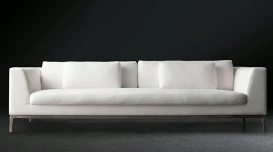 Long White Sofa From The New RH Modern Collection