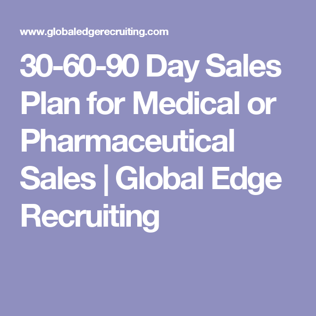 Day Sales Plan For Medical Or Pharmaceutical Sales