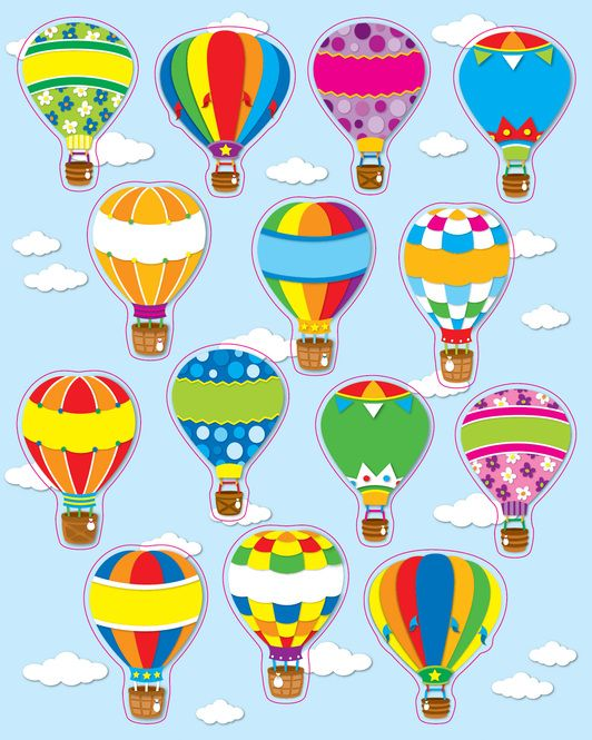 Hot Air Balloons Sticker | Stickers | Rewards & Incentives | Education | Mardel