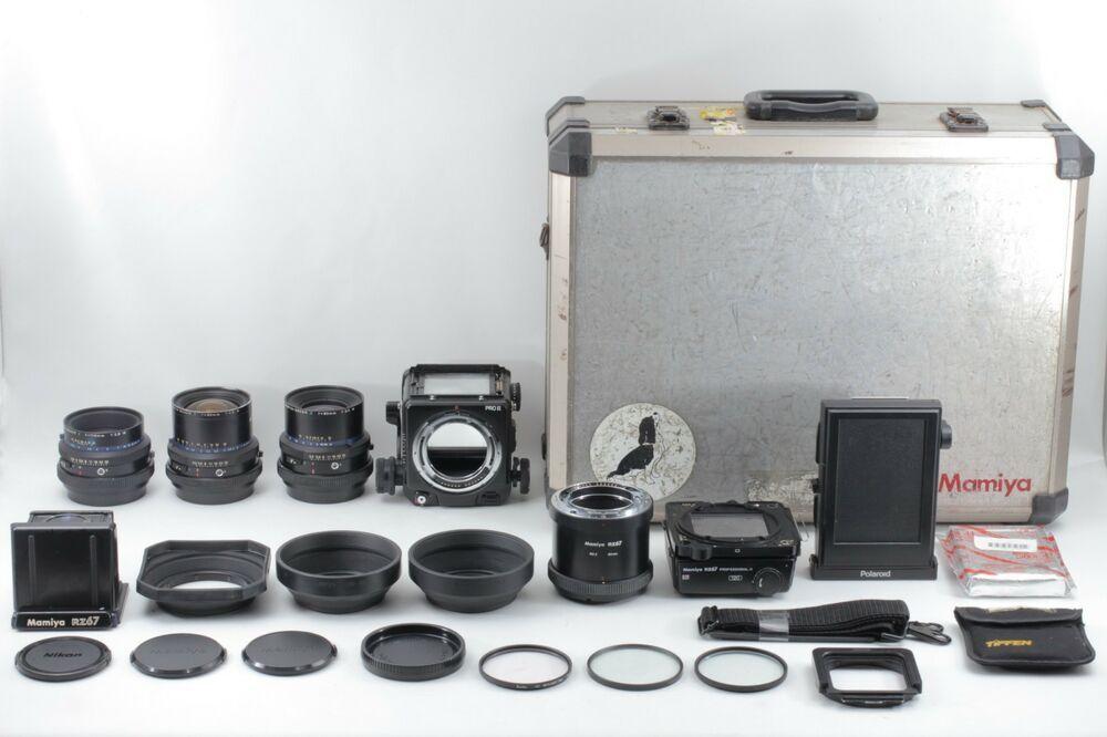 Exc++++】 Mamiya RZ67 Pro II Film Camera w/ 50mm 90mm 110mm