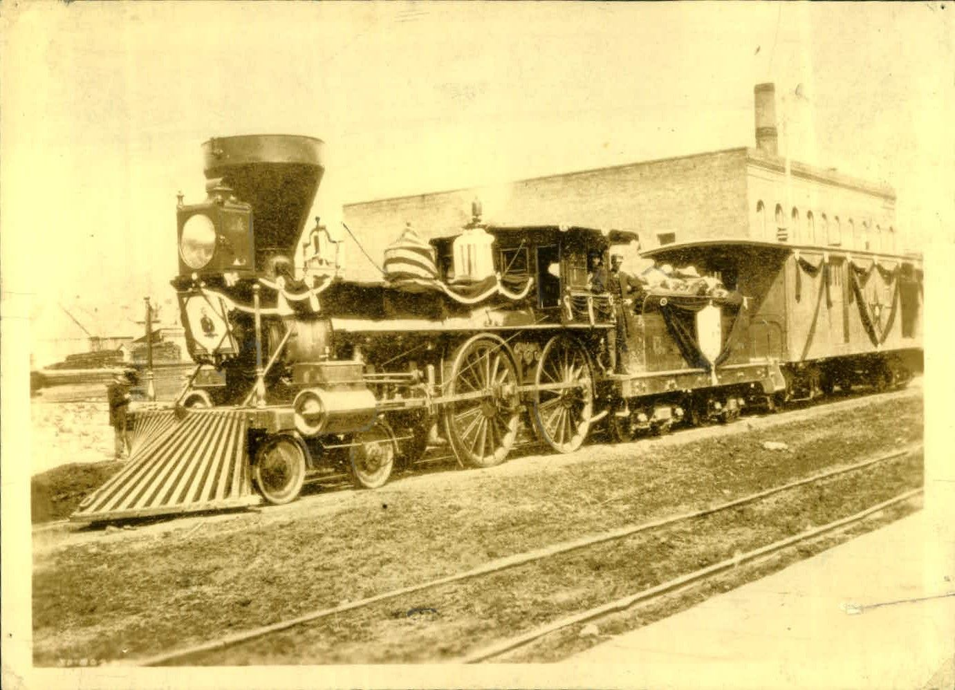 1865 Abraham Lincoln S Funeral Train The Train That Carried Abraham