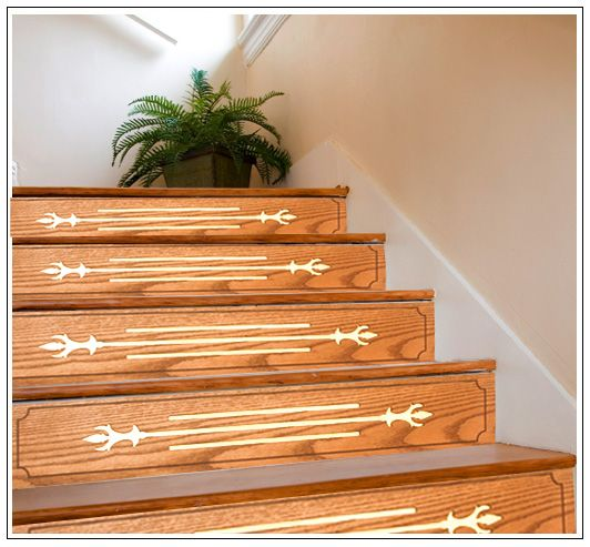 Wood Stairs Painted Risers: Stairfaces - Decorative Stair