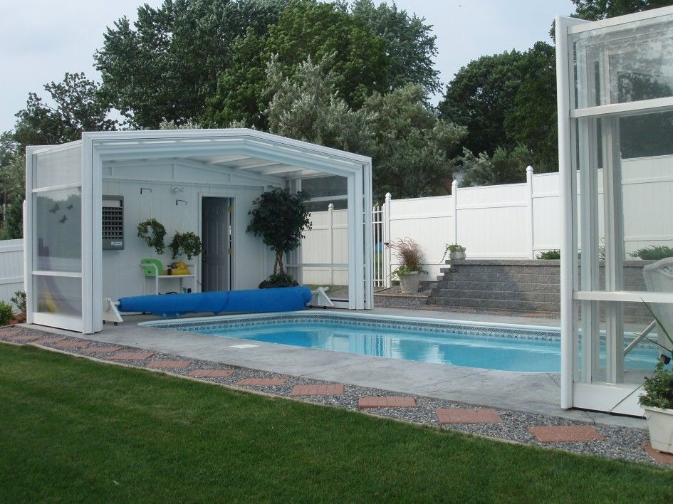 Tremendous Above Ground Deck Pool Covers With Telescopic Pool Enclosure Ideas Also Painting Aluminum Swim Pool Houses Swimming Pool Enclosures Residential Pool
