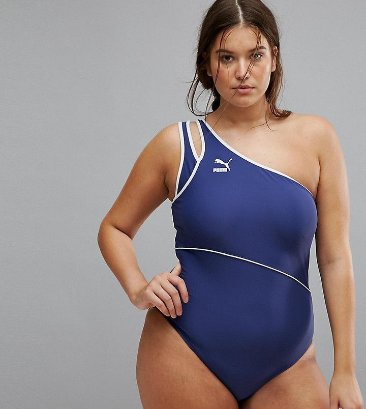 Puma Exclusive To Asos Plus One Shoulder Swimsuit Products