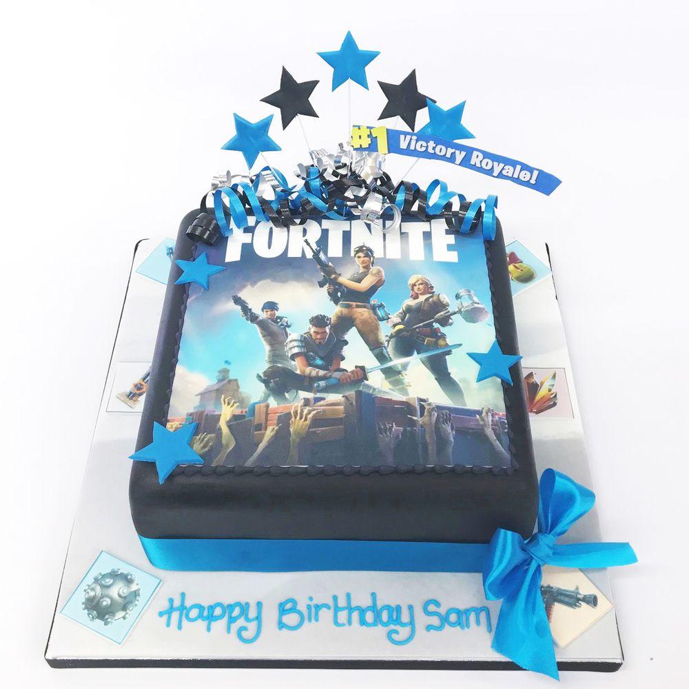 Fortnite Party Cake 7th birthday cakes, Birthday cake