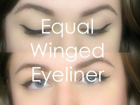 Tricks for Equal Winged Eyeliner on Both Eyes! - YouTube