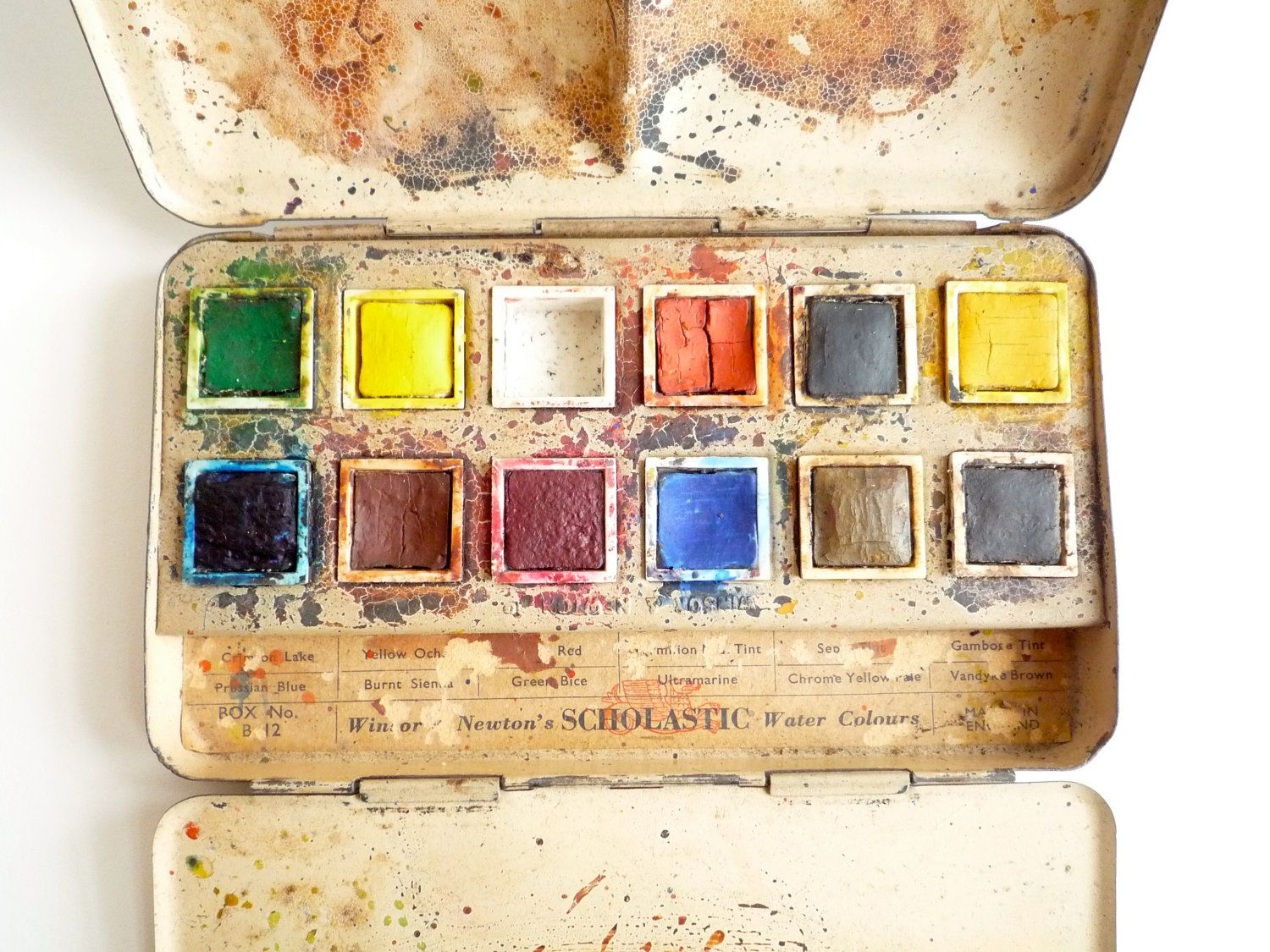 Antique Paint Box By Winsor And Newton Vintage Watercolor