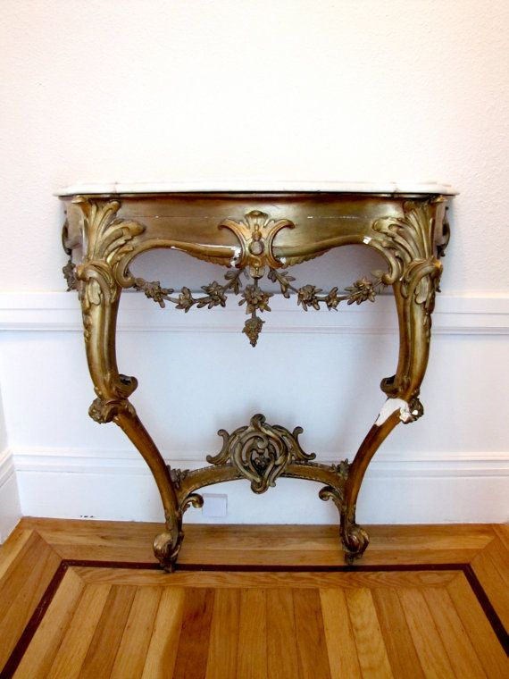 ROCOCO CONSOLE TABLE, 19th Century French Hall Table, Antique Furniture,  1800s On Etsy