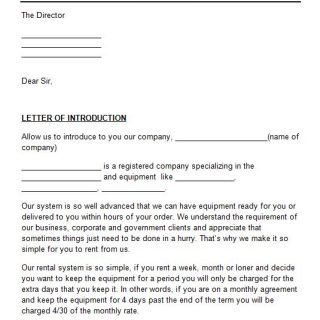 Letter Of Introduction Template 14 Introduction Letter Business Letter Sample Lettering
