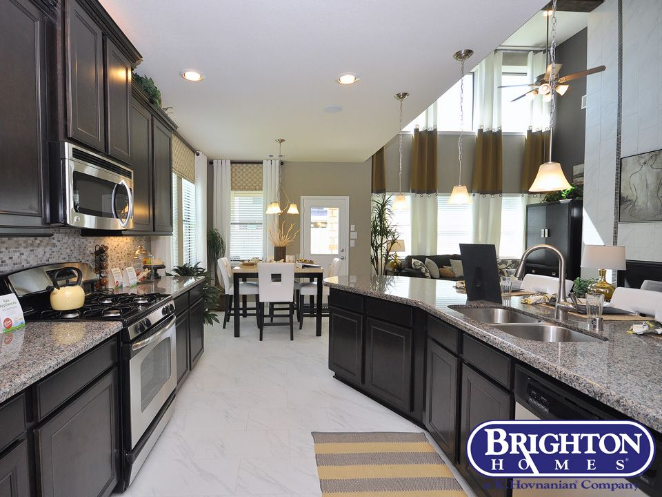 Open Kitchen Floor Plan Kitchen In Our Easton Model Home Brighton Homes Www Brightonhomes Com