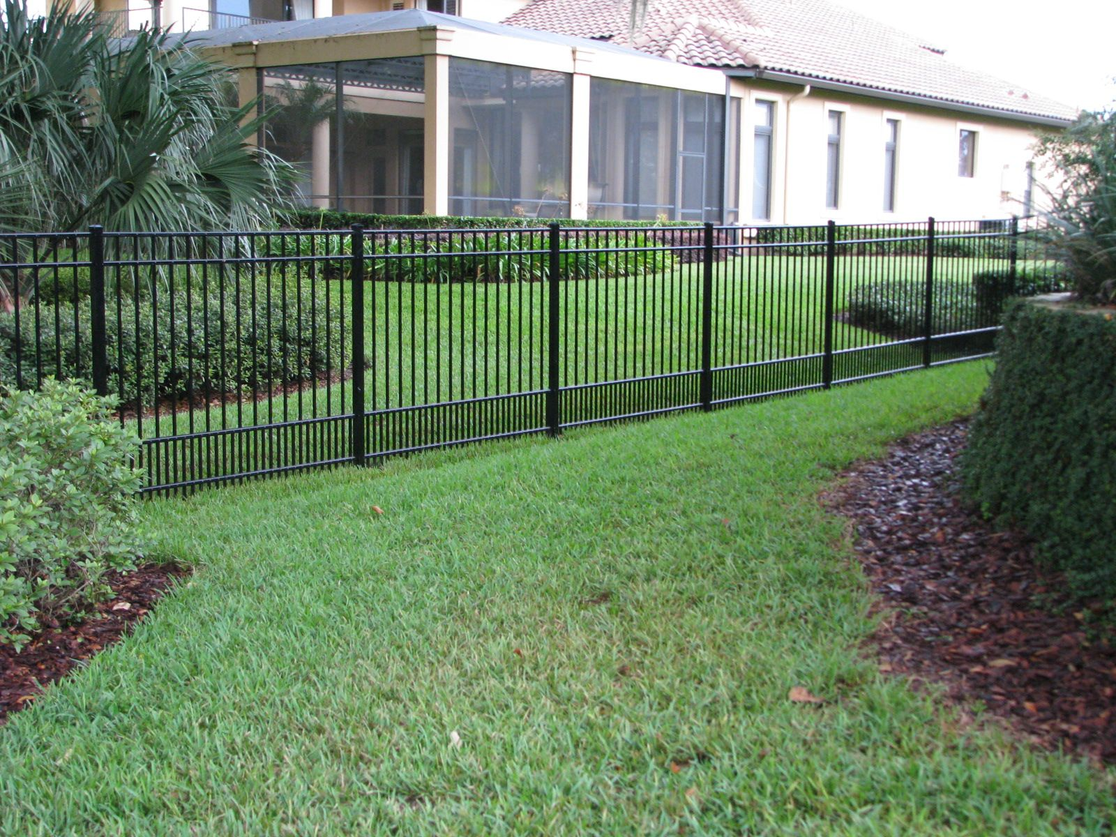 Aluminum Fence Designs Flat top puppy picket aluminum fence by mossy oak fence orlando flat top puppy picket aluminum fence by mossy oak fence orlando melbourne workwithnaturefo