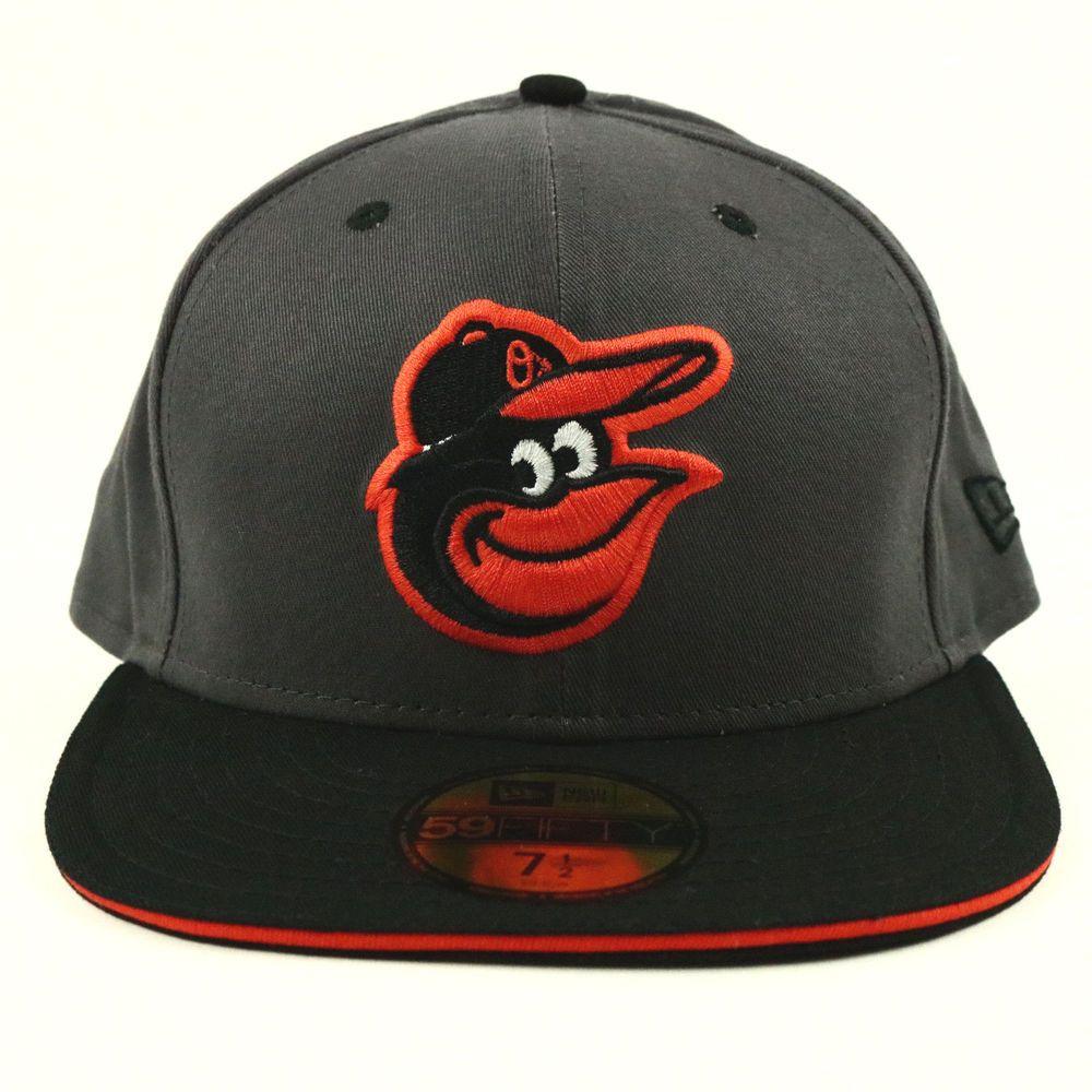 NEW ERA 59Fifty Baseball Hat Baltimore Orioles Gray Black