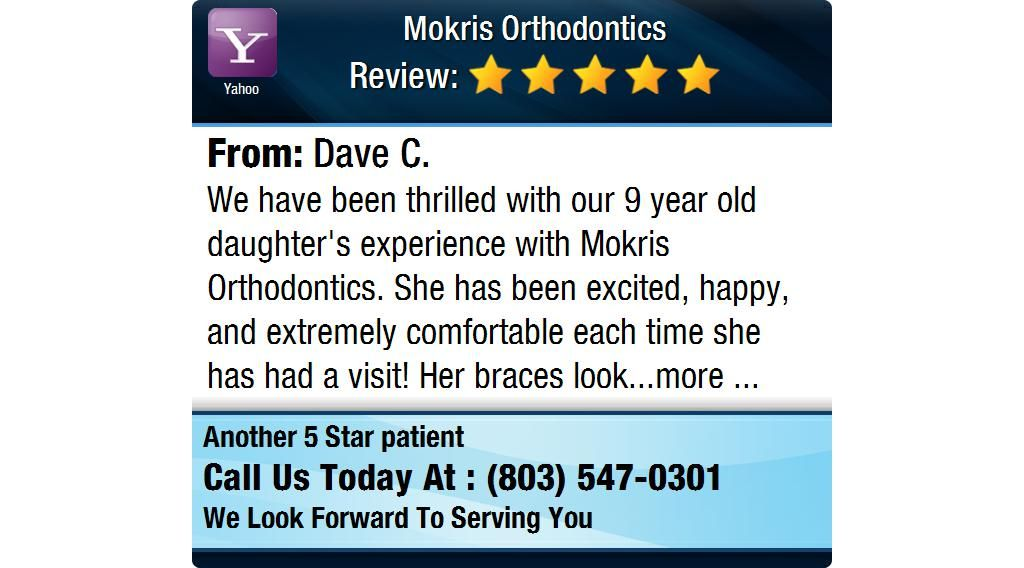 We have been thrilled with our 9 year old daughter's experience with Mokris Orthodontics....