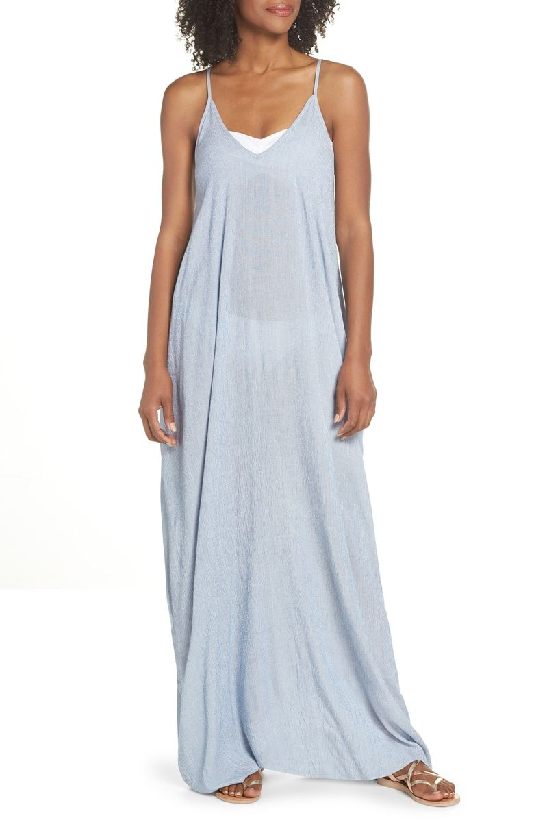 1f0de0cb48 Free shipping and returns on Elan Cover-Up Maxi Dress at Nordstrom.com. Get  an effortless look in this billowy maxi dress topped with thin spaghetti  straps ...
