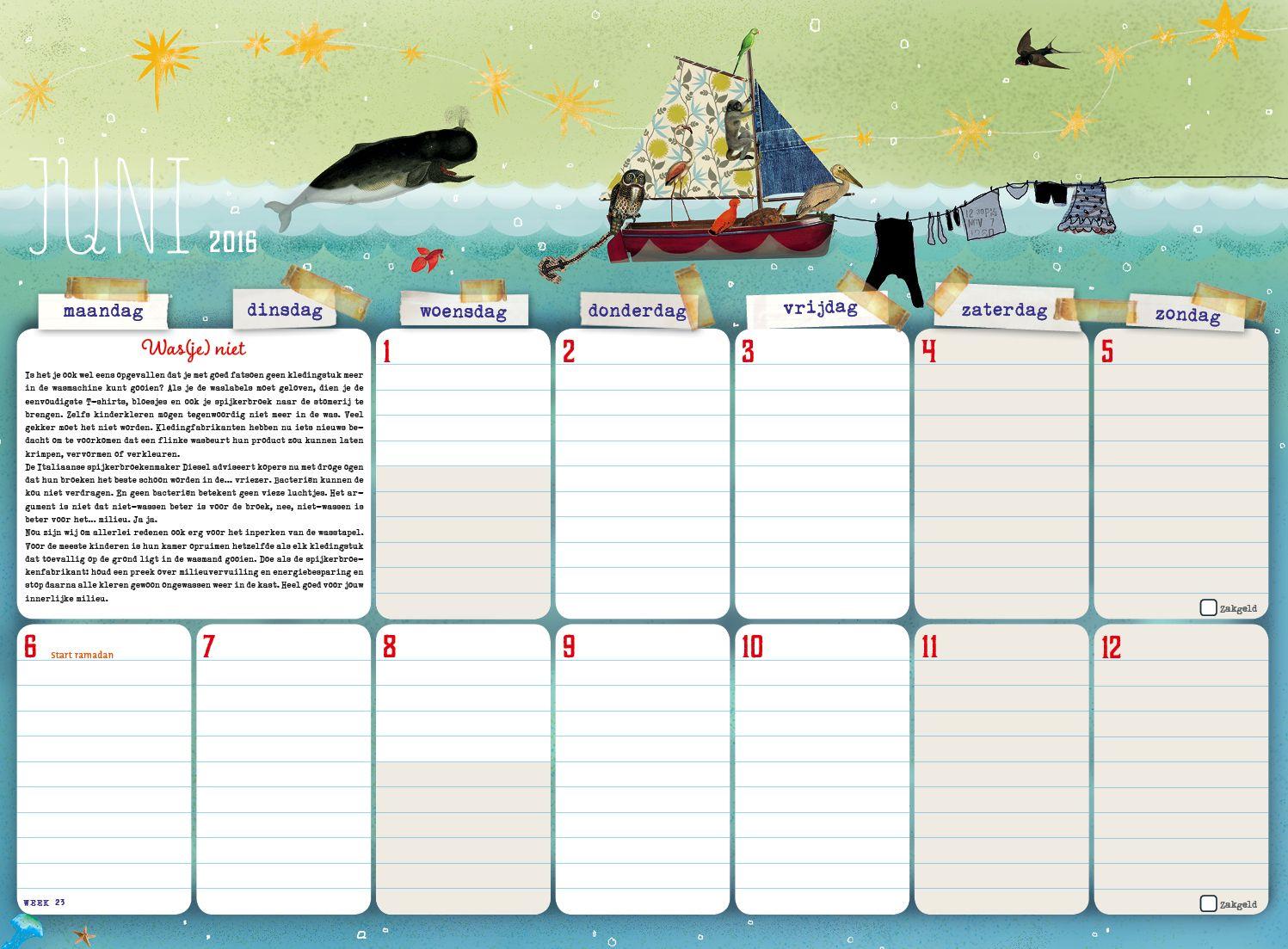 Maandplanner voor het hele gezin Hobby.blogo.nl