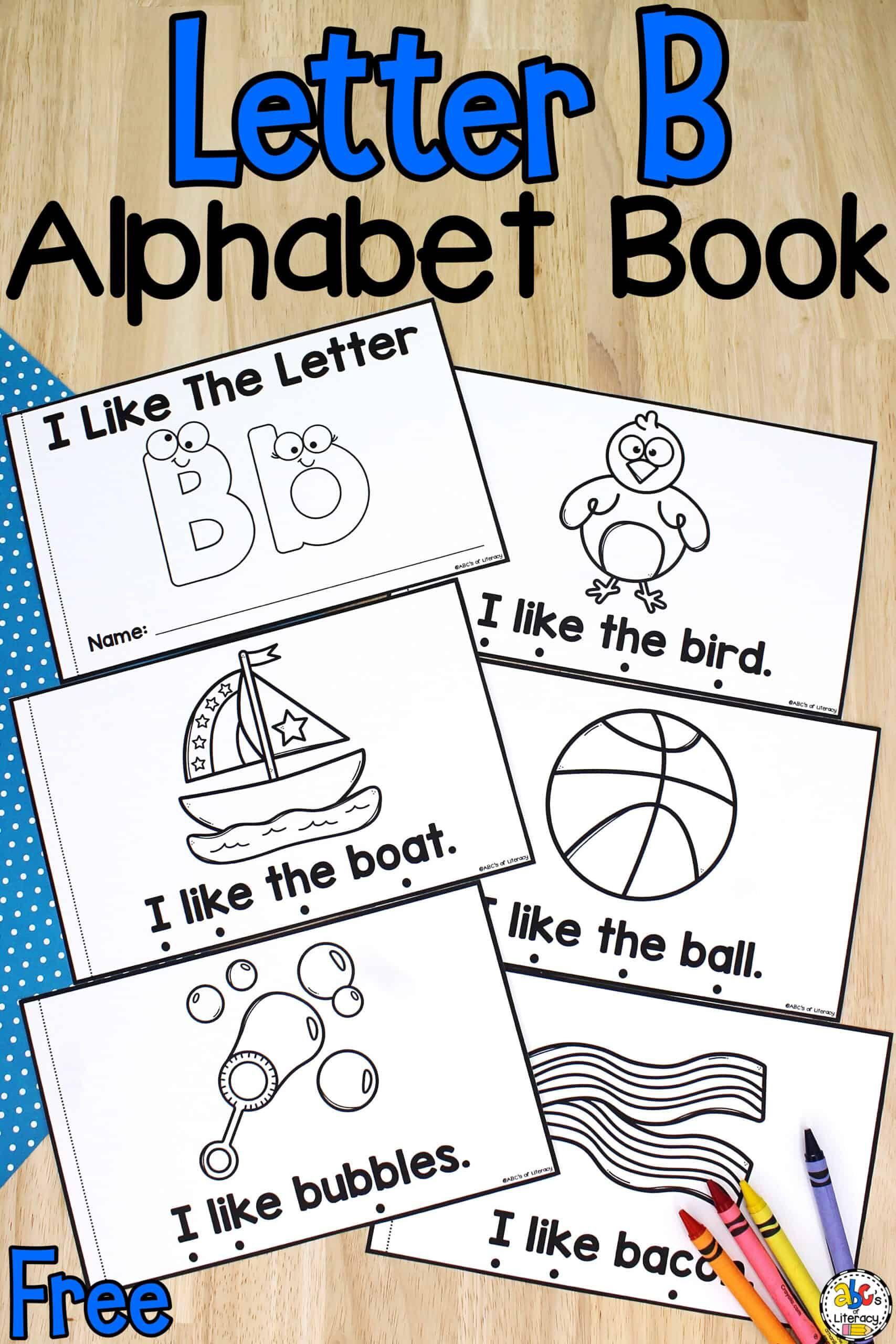 Letter B Book Letter Recognition Activitiy For Pre